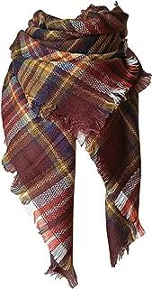 Lanzom Large Tartan Fashion Women Warm Blanket Scarf Lovely Wrap Shawl