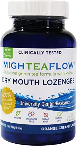 2021 MighTeaFlow Natural online Dry Mouth Lozenge w/ Xylitol, Clinically Tested, popular Developed by University Dental Professionals, Orange Cream Flavor, 90 Count online sale