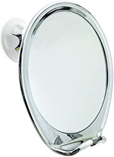 JiBen Fogless Shower Mirror with Power Locking Suction Cup, Built-in Razor Hook and 360..