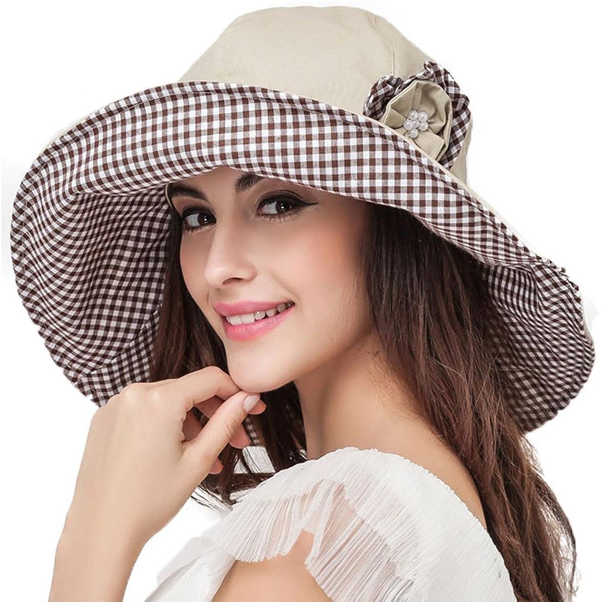 有効な精緻化ウェイド折りたたみ ビーチ 帽 日よけ帽 レディース 夏 つば広帽子 UVカット帽子 紫外線対策 日焼け止め 遮光 ハット