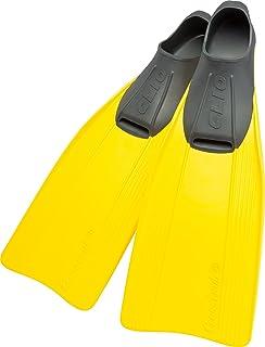Cressi Clio Premium Aletas para Buceo, Snorkeling y Natación, Unisex, Amarillo, 27/29
