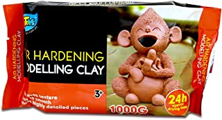 Artoys Air Dry Clay,Modelling clay,Terracotta 1KG,Sculpting,Moulding,Preshool toys,Pretend play,school craft supplies