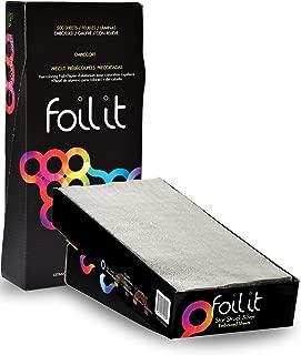 Framar 5x12 Star Struck Silver Embossed Pre Cut Aluminum Foil Sheets, Hair Foils For Highlighting - 500 Foil Sheets
