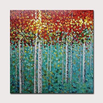 100/% dipinto a mano acrilico dipinto mano Muro ARTE Immagine Tela Fiori