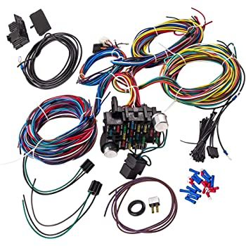 [SCHEMATICS_4FR]  Amazon.com: Wiring Harness Kit 21 Circuit Long Wires Standard Color Wiring  Harness Kit for Chevy Mopar Hotrods Ratrods Ford Chrysler Universal:  Automotive | Ford Wiring Harness Kits |  | Amazon.com