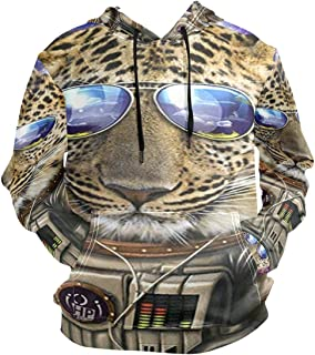 3D Hoodie Astronaut Stylish Sunglasses Florida Panther Leopard Pullover Hooded Sweatshirts Long Sleeve Shirt