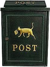 ZZYE Outdoor afsluitbare ijzeren brievenbus, wandmontage brievenbus, weerbestendig gegalvaniseerd stalen postbus postbus 2...