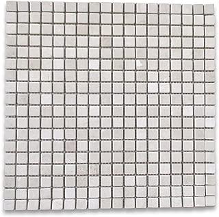 Crema Marfil Spanish Marble Square Mosaic Tile 5/8 x 5/8 Tumbled