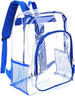 Heavy Duty Transparent Clear Backpack Bookbags See Through Backpacks for School
