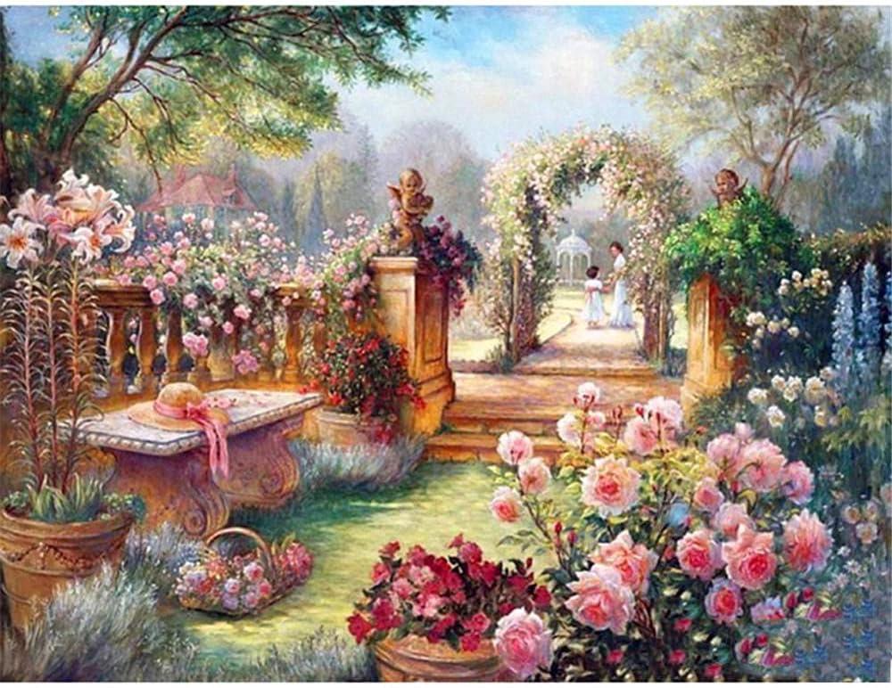 Popularity 5D Award Diamond Painting Garden Landscape Pai Large Size DIY