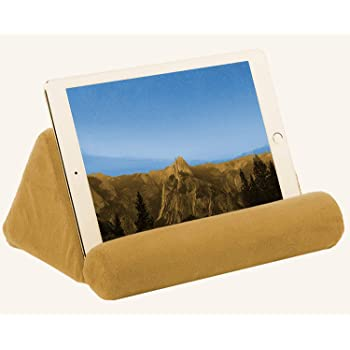 iPad Tablet Pillow Holder for Lap - Pillow for Tablet or iPad - Universal Phone and Tablet Holder for Bed Can Be Used Also on Floor, Desk, Chair, Couch (Brown)