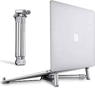 Soporte Portátil, Tensun Aluminio Ventilado Soporte Ordenador Portátil Plegable, Ergonomic Enfriamiento Laptop Stand Mesa para Macbook, DELL, HP, PC y Otros Portátiles 14-17