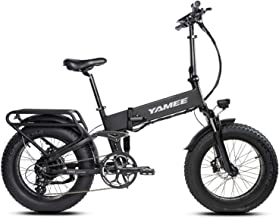 Yamee Fat Bear Ebike 20`` Snow Electric Bicycle Folding 48V 11.6AH Lithium Battery 500W for e-Bike with I-PAS Power System Adult Bike