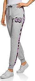 oodji Ultra Femme Pantalon en Maille avec Finition
