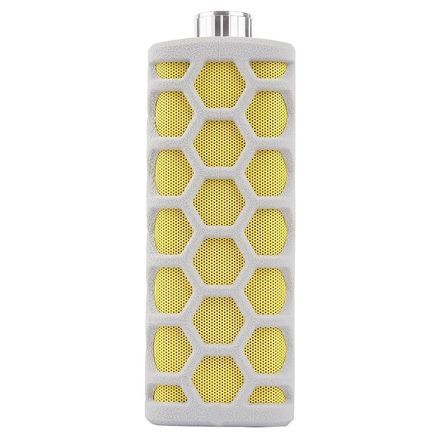 氏覆すアドバンテージMqhyスピーカーバスルームシャワーCanバブル水Bluetoothスピーカー屋外ポータブル防水オーディオミニUSB充電サブウーファー、グレーイエロー