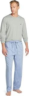 Men's Soft Woven 100% Cotton Elastic Waistband Sleep Pajama Pant