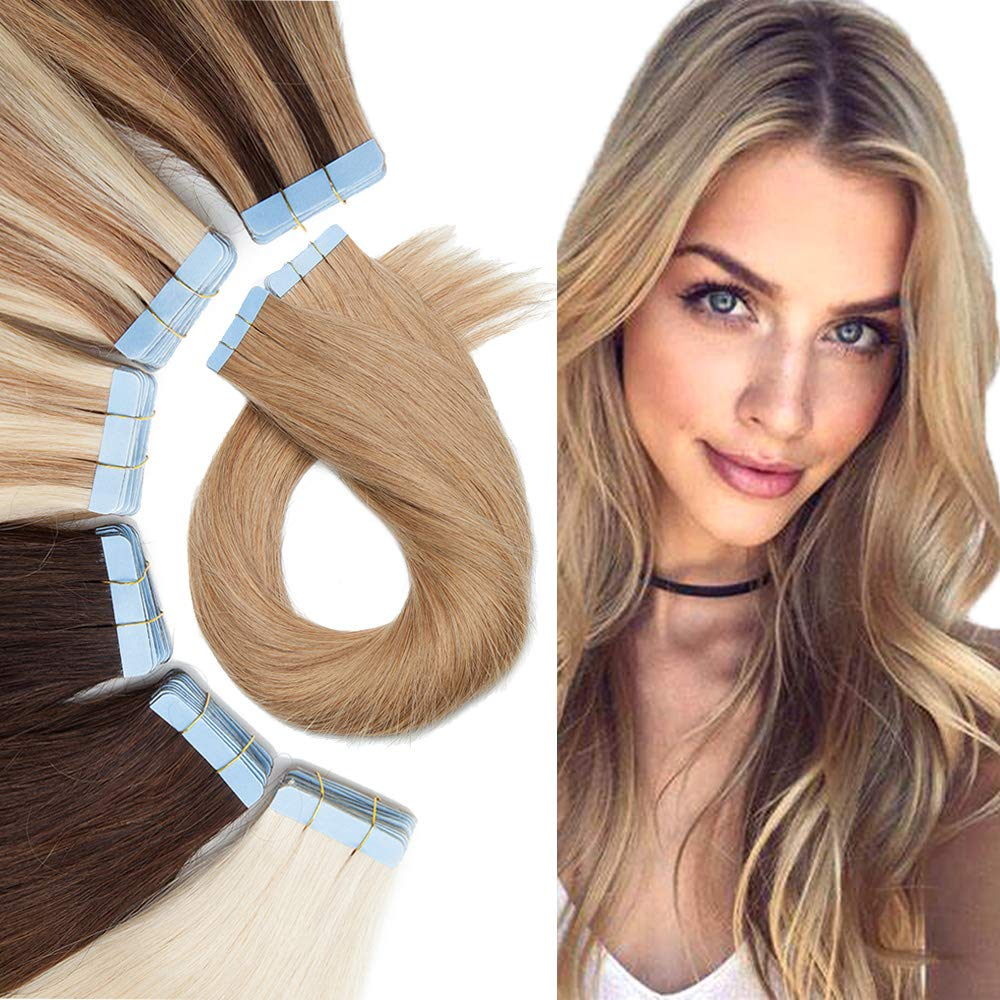 Tape In Human Max 80% OFF Hair Extension Remy 35% OFF Sk Glue Hairpieces Ins
