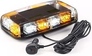 VKGAT 36 LED Roof Top Strobe Lights, Emergency Hazard Warning Safety Flashing Strobe Light Bar for Truck Car, Waterproof and Magnetic Mount 12-24V (Amber/White)