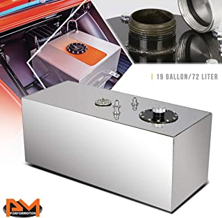 19 Gallon Top Feed Aluminum Fuel Cell/Gas Tank+Level Sender+Cap Polished Chrome