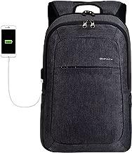 Kopack Business Laptop Backpack with USB Charging Port Anti-Theft Travel bag Computer Backpack Bag Water Resistant 15.6 inch Grey (Black Grey2)