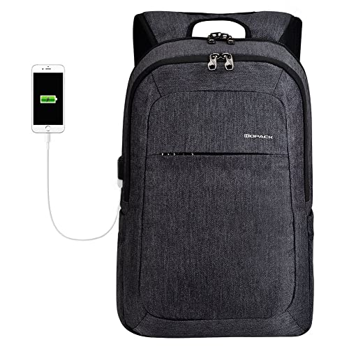 1e73da7e731e kopack Slim Business Laptop Backpack USB Anti Thief Tear Water Resistant  Travel Computer Backpack 15.6