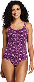 Lands' End Women's Tugless One Piece Swimsuit Soft Cup Print