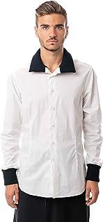 Morgan Visioli Fashion Camisa Hombre White&Black