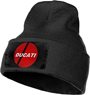 Way Bill Men's and Women Ducati Logo Beanie Hats Keep Warm Winter Knitted Caps for Ski Outdoor