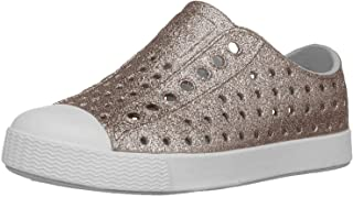 Native Kids Shoes Baby Girl's Jefferson Bling (Toddler/Little Kid) Metal Bling/Shell White 6 M US Toddler