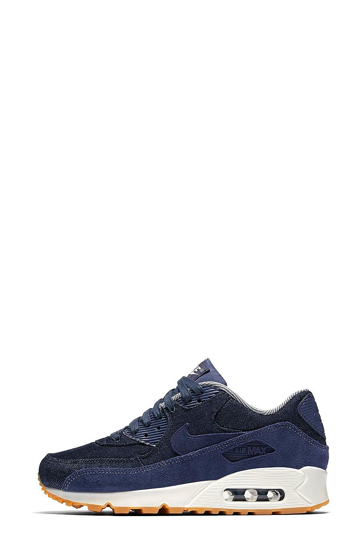雪だるまを作る転倒厚さナイキ シューズ スニーカー Nike Air Max 90 SE Sneaker (Women) Blue/ Musl [並行輸入品]