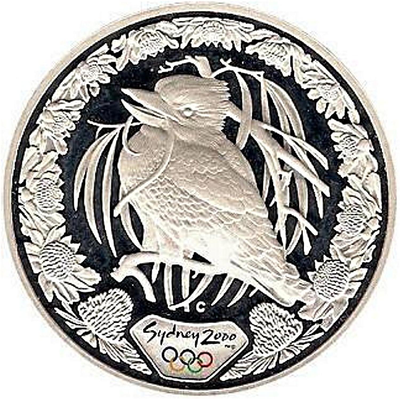 Kookaburra & WARATAH - 2000 Sydney Olympics - 1 oz Pure Silver Proof Coin - Royal Australian Mint
