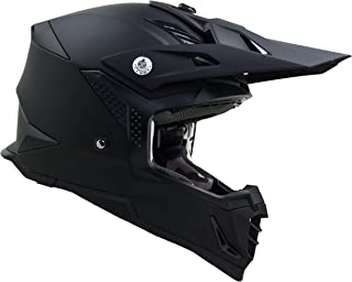Vega Helmets Unisex-Adult Off-Road MCX Lightweight Fully Loaded Dirt Bike Helmet (Matte Black, LG)