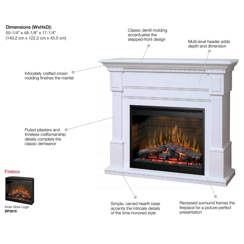 Buy 20.20 Dimplex Essex White Purifire Electric Fireplace   GDS20L20 ...