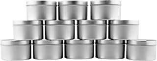8-Ounce Round Metal Tins (12-Pack); For Candles, Arts & Crafts, Storage & More