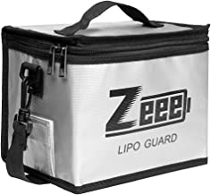 Zeee Lipo Safe Bag Fireproof Explosionproof Bag Large Capacity Lipo Battery Storage Guard Safe Pouch for Charge & Storage(8.46 x 6.5 x 5.71 in)