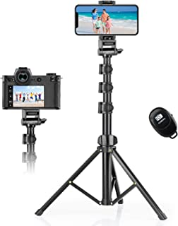 """Selfie Stick Tripod 142cm (56""""), Eocean Phone Tripod Stand with Bluetooth Remote, Compatible with iPhone Android GoPro & C..."""