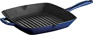 Tramontina80131/063DS Enameled Cast Iron Grill Pan, 11-Inch, Gradated Cobalt