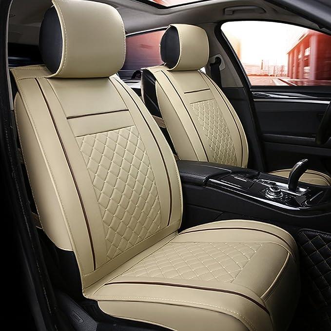 Han Sui Song Autositzbezug Vordersitzschutz 2 Stück Leder Autozubehör Auto