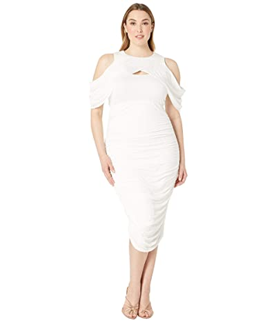 Kiyonna Melissa Midi Dress (Porcelain) Women