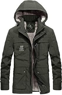 ZHPUAT メンズ ダウンコート アウターコート モッズコート ダウンジャケット アウトドア 裏起毛 中綿 厚手 防寒 防風 暖かい ウィンター 冬