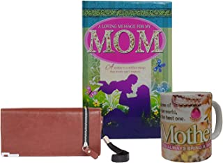 Saugat Mothers Day Gifts Combo - Mom Diary, Coffee Mug & Womens Wallet for Mother