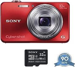 Sony Cyber-Shot DSC-WX150 Digital Camera (Red) with Memory Card - (Renewed)