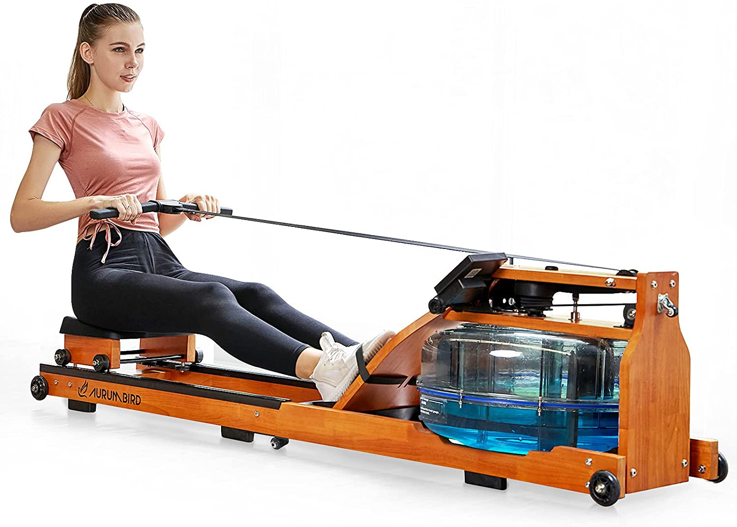 AURUMBIRD Household Folding Water Rowing Under blast sales LCD Machine Monito with Dealing full price reduction