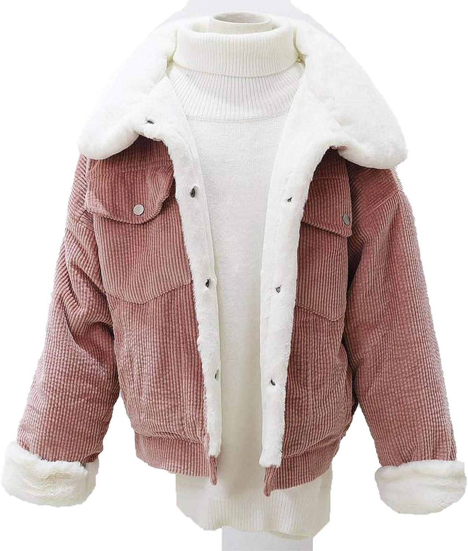 Cheryl Bull Trendy Women Thick Lambswool Jackets Ladies Cute Outerwear Coat