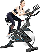 Sponsored Ad - Pooboo Indoor Cycling Bike Belt Drive Exercise Bike Stationary with Comfortable Seat Cushion, Tablet Holder and LCD Monitor for Home Workout