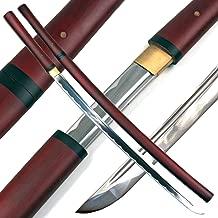Ace Martial Arts Supply Handmade Japanese Shirasaya Samurai Katana Sharp Sword-Musha