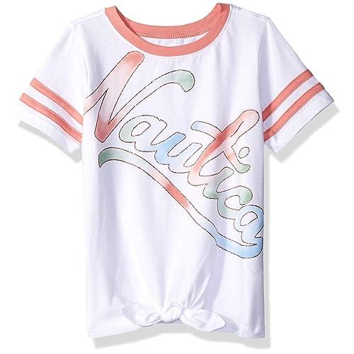 aa44ceffc Nautica Girls' Short Sleeve Graphic Tee