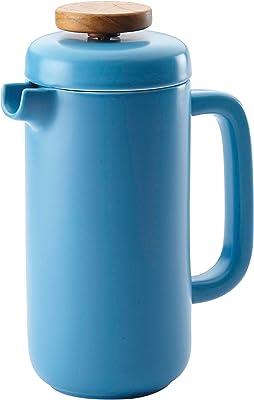 BonJour Ceramic Coffee and Tea 8-Demitasse-Cup Ceramic French Press, Aqua