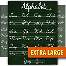 ABC Cursive Script Alphabet poster EXTRA LARGE chart LAMINATED teaching classroom decoration Young N Refined (24x30)
