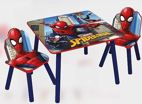 venta mundialmente famosa en línea Marvel, Spiderman 48566-s Juego de Mesa + 2sillas, MDF, MDF, MDF, rojo azul, Talla única  oferta de tienda